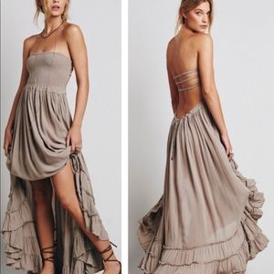 Free People Taupe extratropical dress